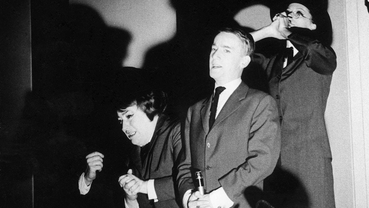 Sonya Hedenbratt och Gösta Ekman i Konstgjorda Pompe 1963