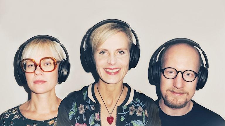 Redaktionen för Uppkopplad: Sandra Löv, Katarina Andersson och Carl Heath.