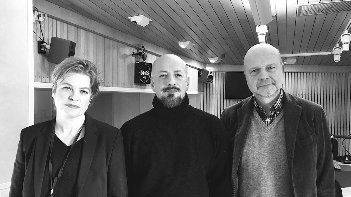 Bergmanpodden DEL 6. Gunnar Bolin samtalar med Tarik Saleh och Jenny Teleman om filmen Sommarlek från 1951. Foto: Thella Johnson/Sveriges Radio