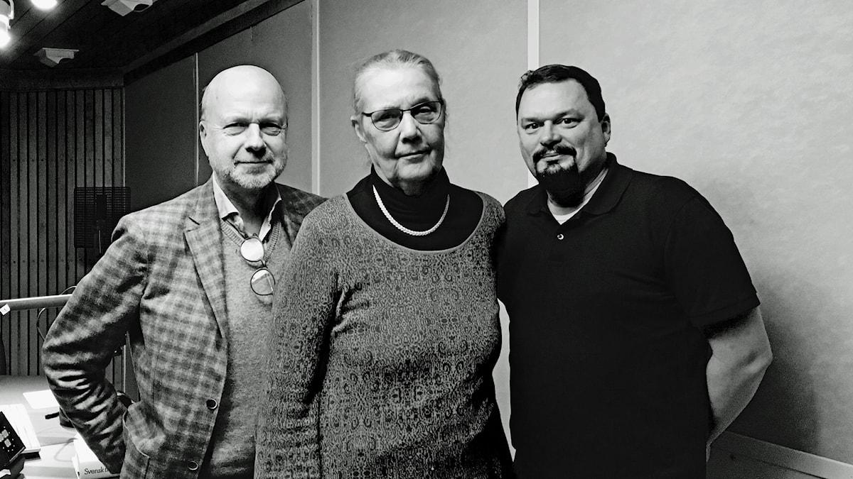 Bergmanpodden DEL 3: Gunnar Bolin samtalar med biskop Caroline Krook och radiokollegan Roger Wilson om Hamnstad och Fängelse, Ingmar Bergmans femte och sjätte biofilm i egen regi. Foto: Thella Johnson/Sveriges Radio
