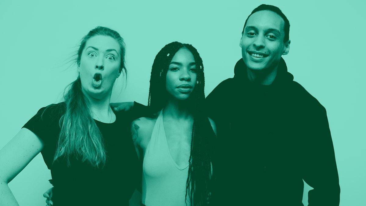 Sara, Janice och Victor