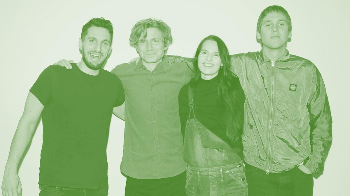 Simon, Adrian, Maja Kristina och Thomas