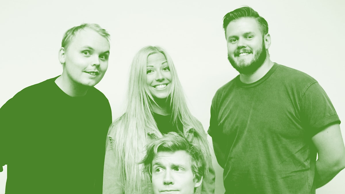Helgen i P3 med Alfred Svensson, Sigrid Bernson, Klas Eriksson och halva Adrian Boberg.