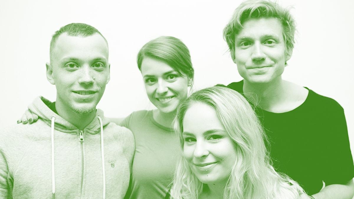 060418_fredag Lokal, Clara Henry, Clara Kristiansen och Adrian Boberg