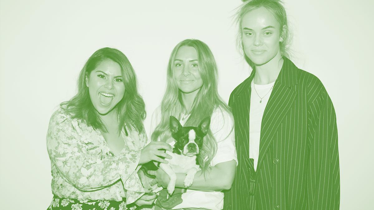 Arantxa Álvarex, Annica Englund och Amanda Winberg