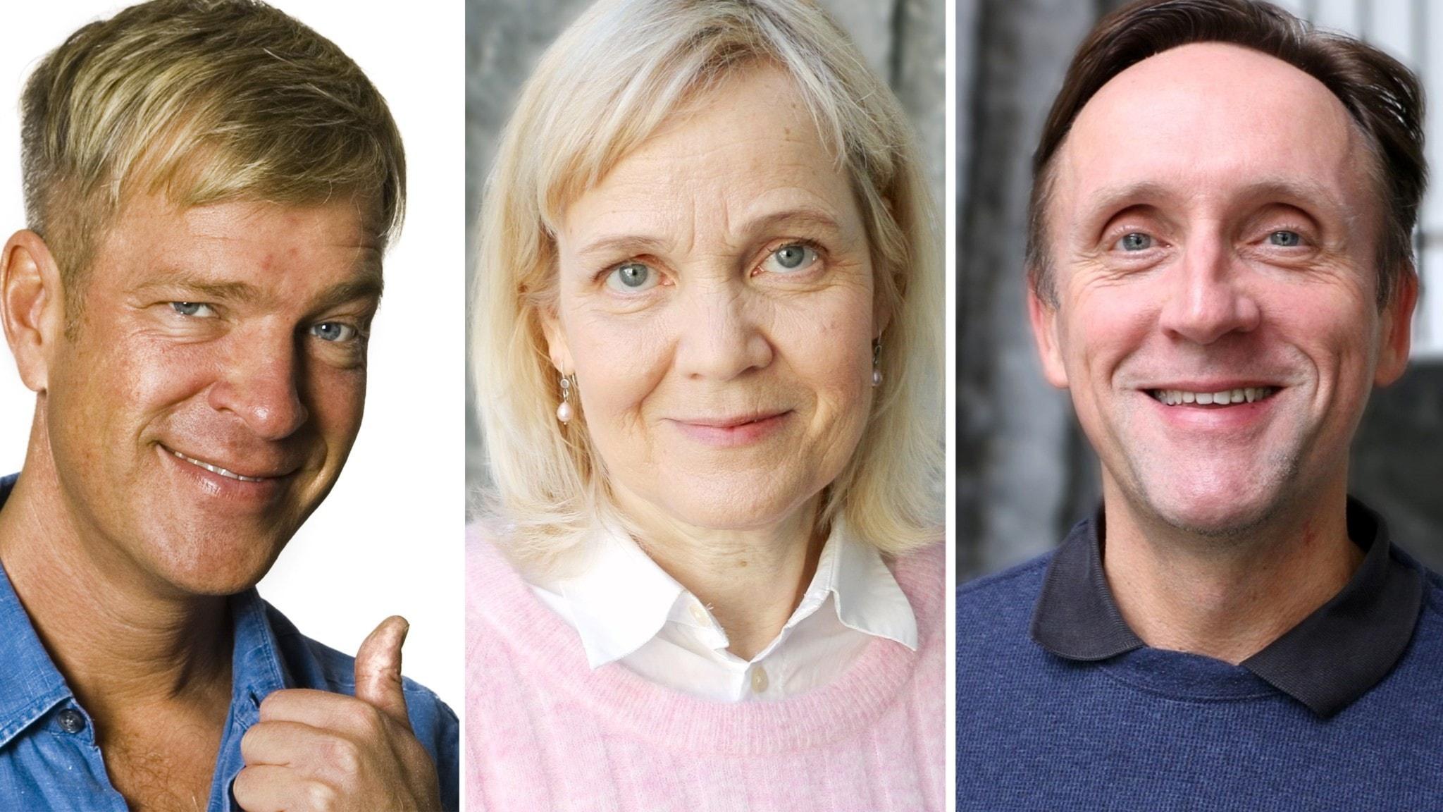 Calle Norlén, Gabriella Ahlström och Göran Everdahl. Foto Mattias Ahlm och Ronnie Ritterland Sveriges Radio