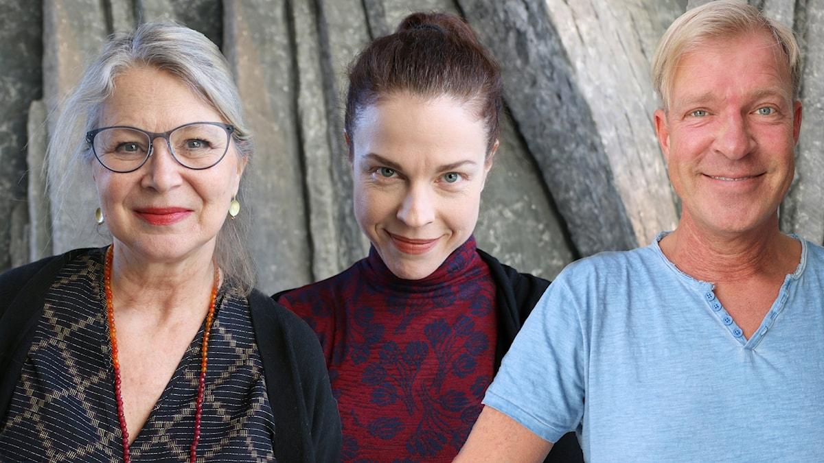 Helena von Zweigbergk, Jessika Gedin och Calle Norlén.