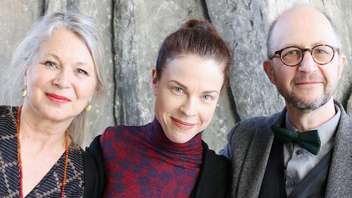 Helena von Zweigbergk, Jessika Gedin och Per Naroskin.
