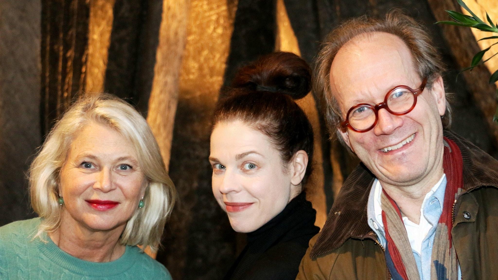 Helena von Zweigbergk, Jessika Gedin och Johan Hakelius