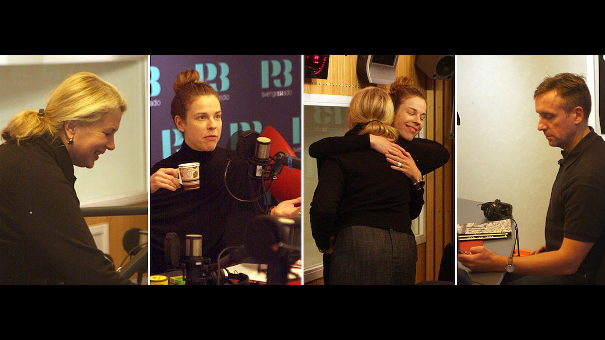 Spanarna 28 oktober 2011. Fotokollage från studion med Helena von Zweigbergk. Göran Everdahl & Jessika Gedin.