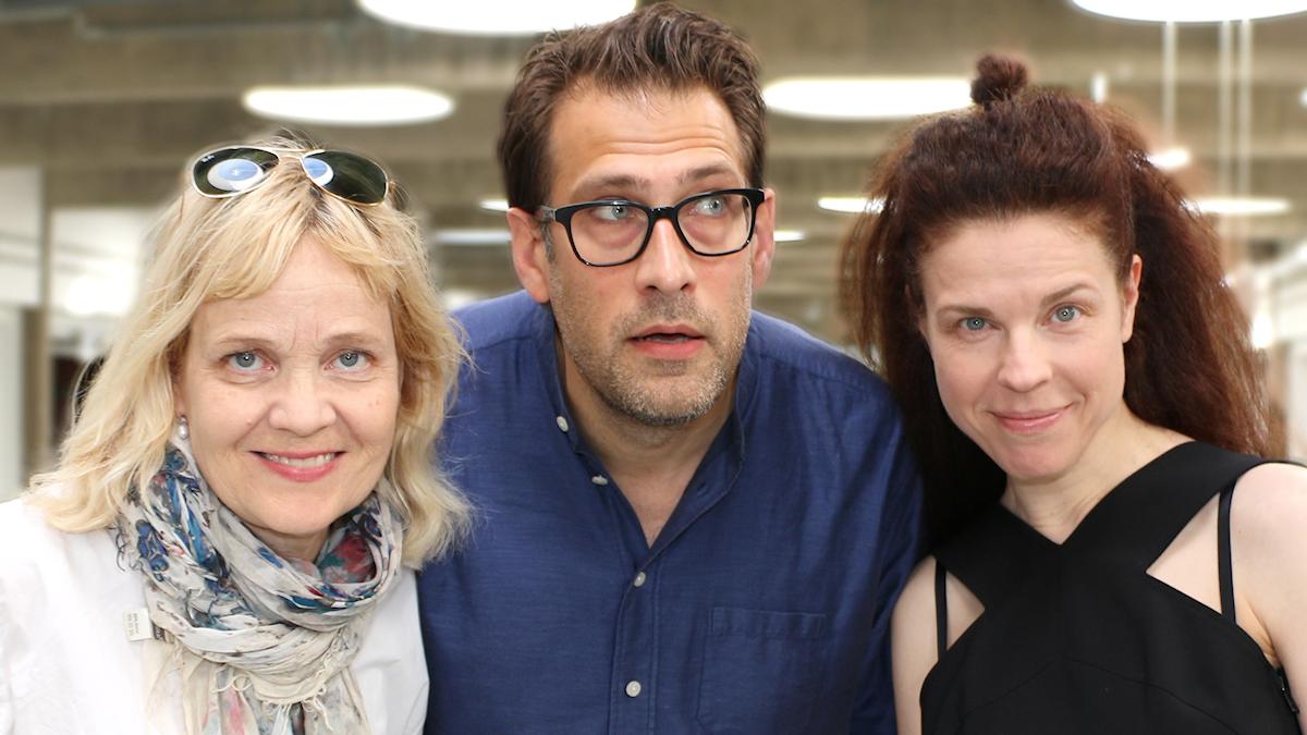 Gabriella Ahlström, Niklas Källner och Jessika Gedin spanar in i framtiden.