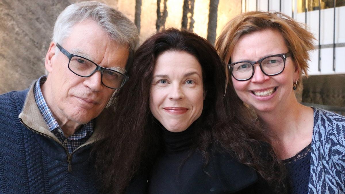Veckans spanare från vänster: Jonas Hallberg, Jessika Gedin och Maja Aase.