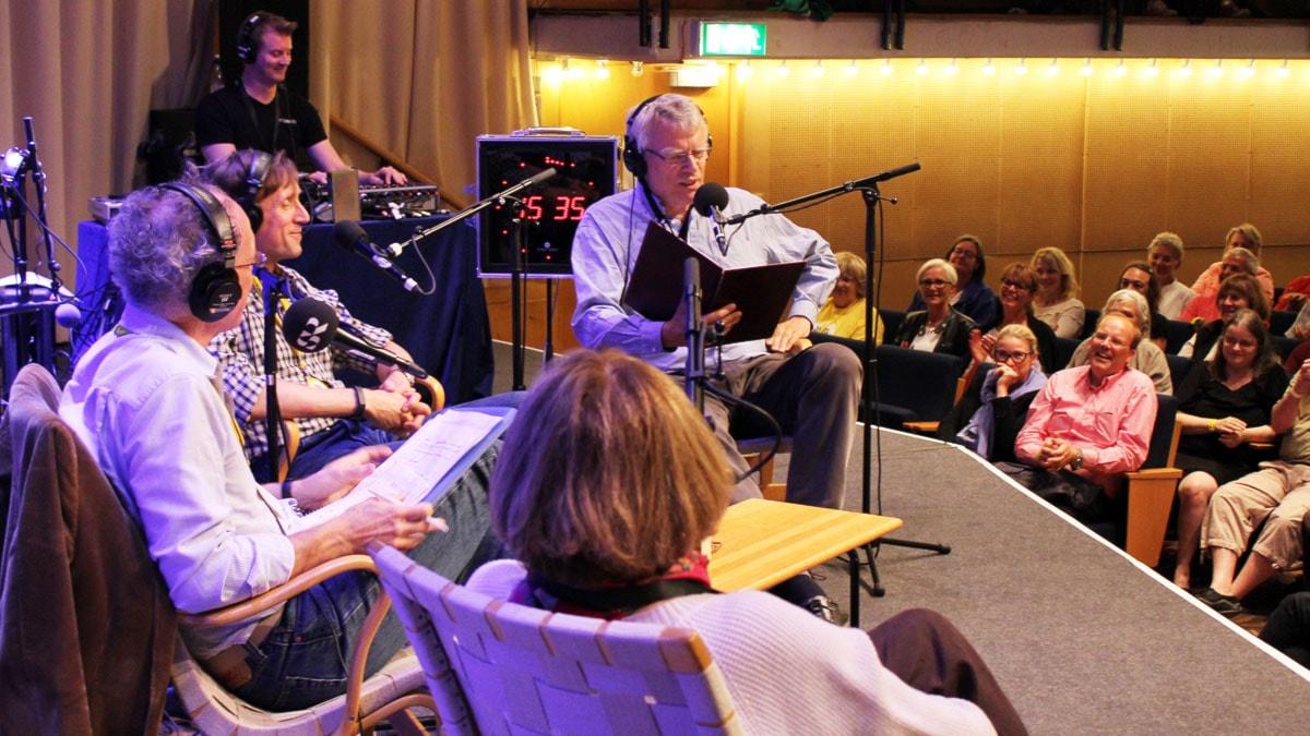 Spanarna med Ingvar Storm. Göran Everdahl, Cecilia Hagen och Jonas Hallberg. Foto: Ronnie Ritterland /