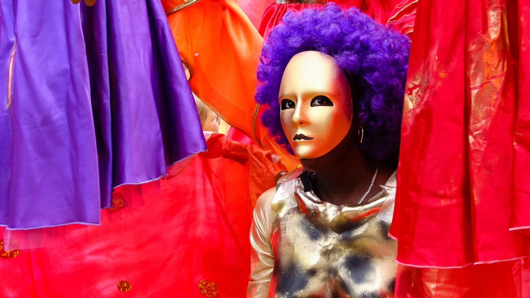 Karneval. Kvinna i mask i Venedig.