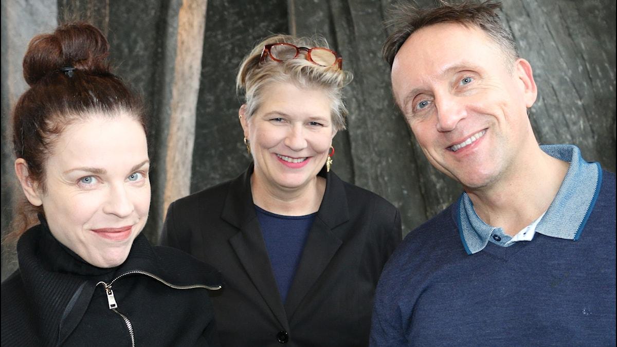 Jessika Gedin, Camilla Lif och Göran Everdahl.