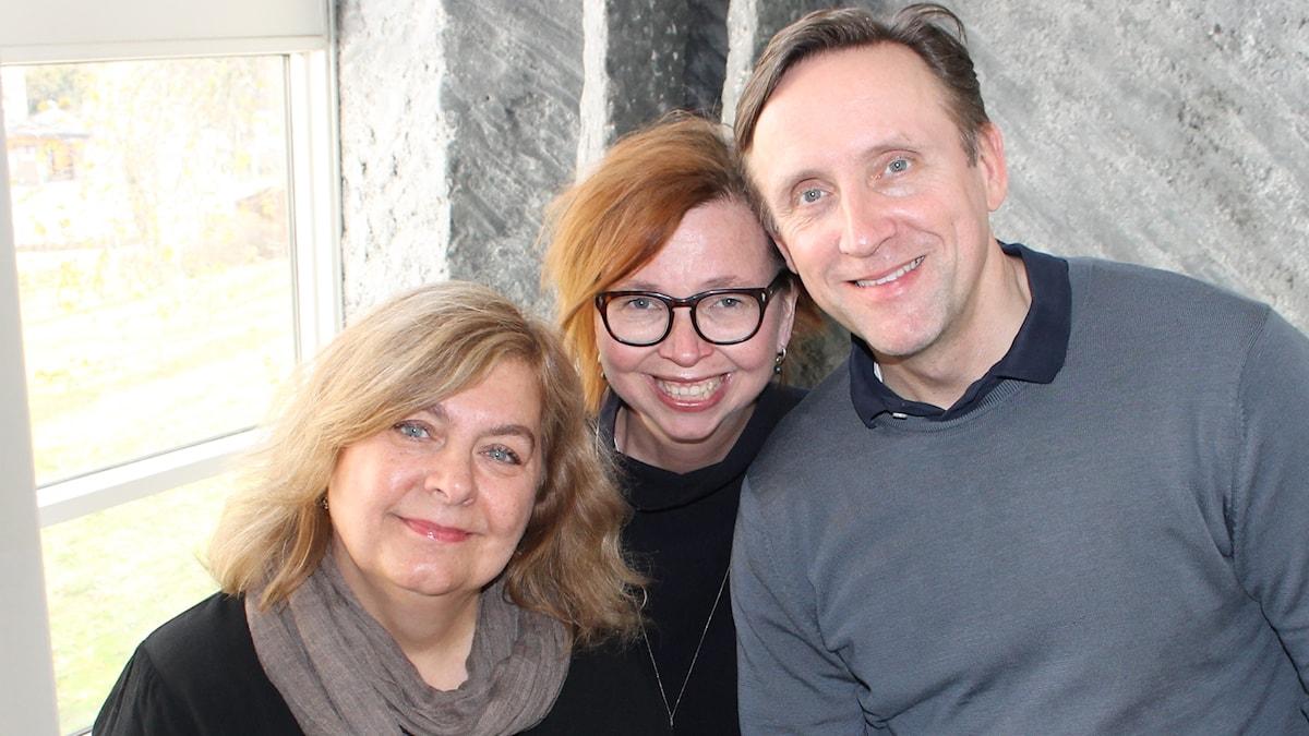 Annika Sundberg, Maja Aase och Göran Everdahl.