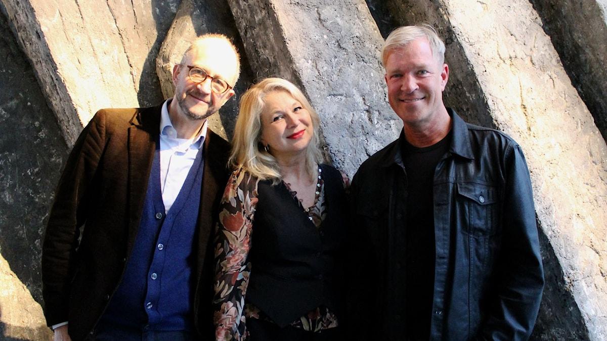 Per Naroskin, Helena von Zweigbergk och Calle Norlén FOTO: Cecilia Djurberg/Sveriges Radio