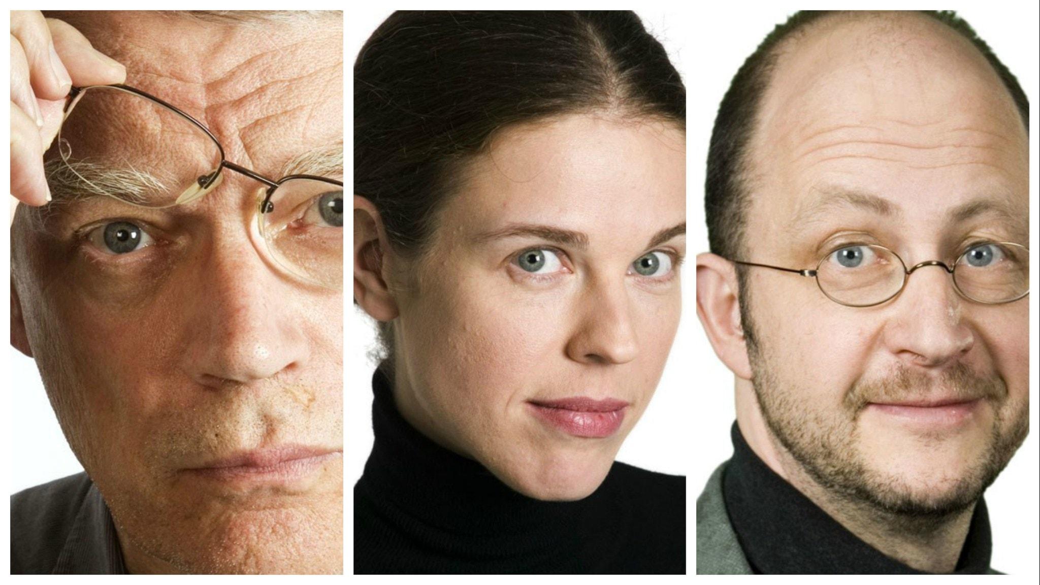 Veckans spanarpanel består den här gången av: Jonas Hallberg, Jessika Gedin och Per Naroskin. På bilden som är ett kollage syns samtliga tre i närbild.