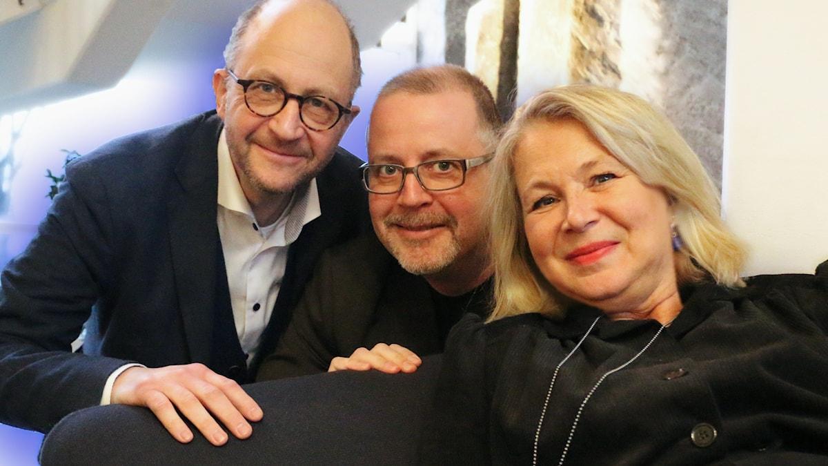 Veckans spanarpanel från vänster: Per Naroskin, Helena von Zweigbergk och Jonathan Lindström.