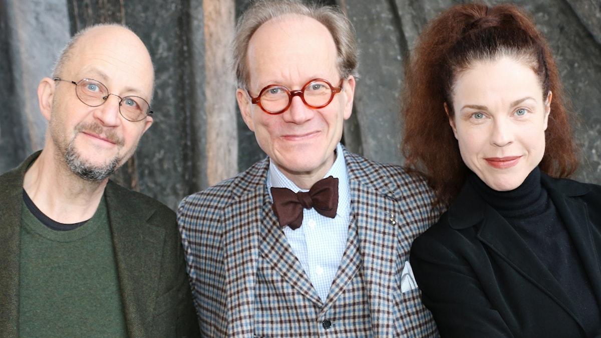 Per Naroskin, Johan Hakelius och Jessika Gedin.