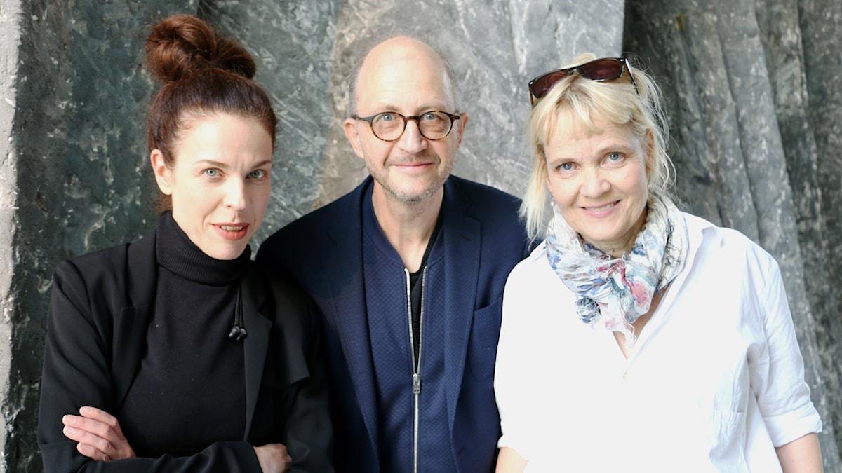 Jessika Gedin, Per Naroskin och Gabriella Ahlström.