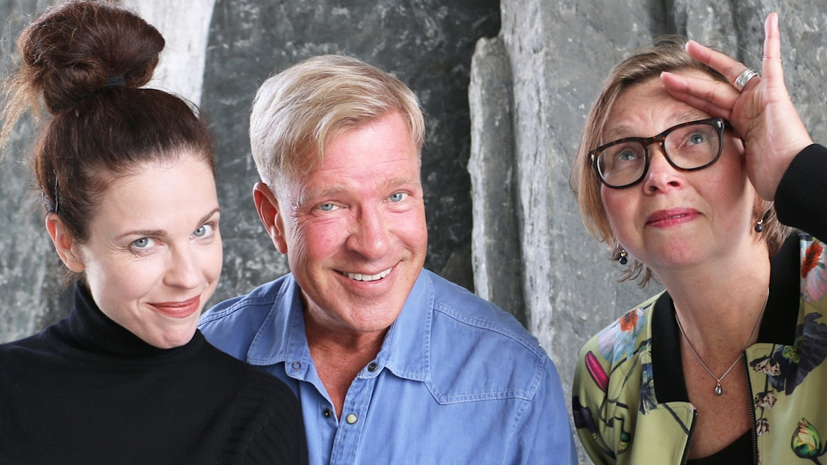 Jessika Gedin, Calle Norlén och Maja Aase spanar.