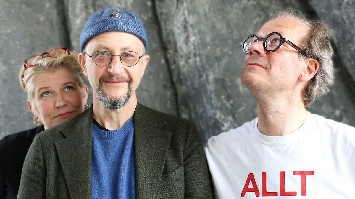 Camilla Lif, Per Naroskin och Johan Hakelius.