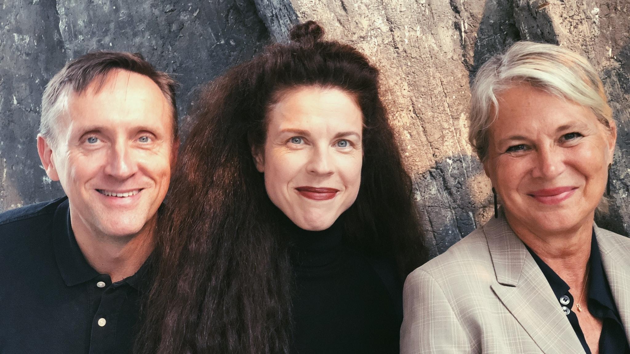 Helena von Zweigbergk, Göran Everdahl och Jessika Gedin.