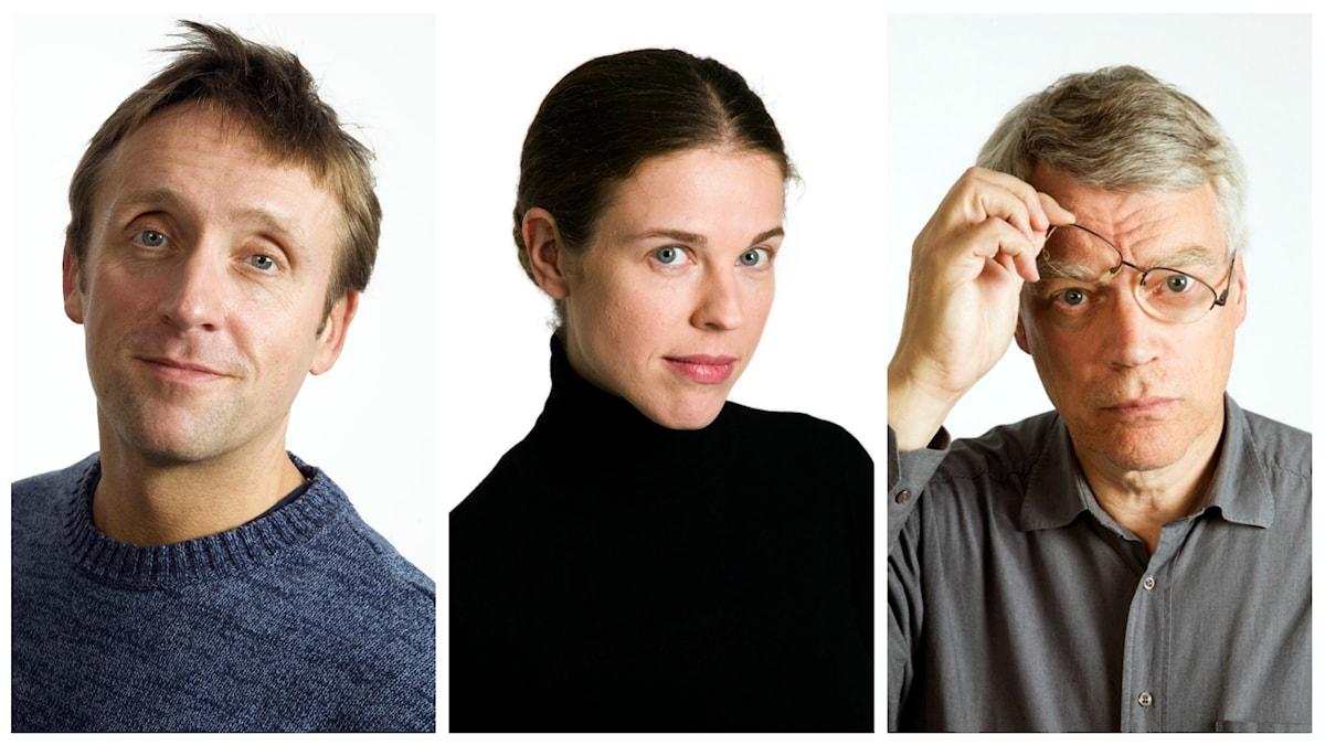 Veckans spanarpanel: Göran Everdahl, Jessika Gedin och Jonas Hallberg.