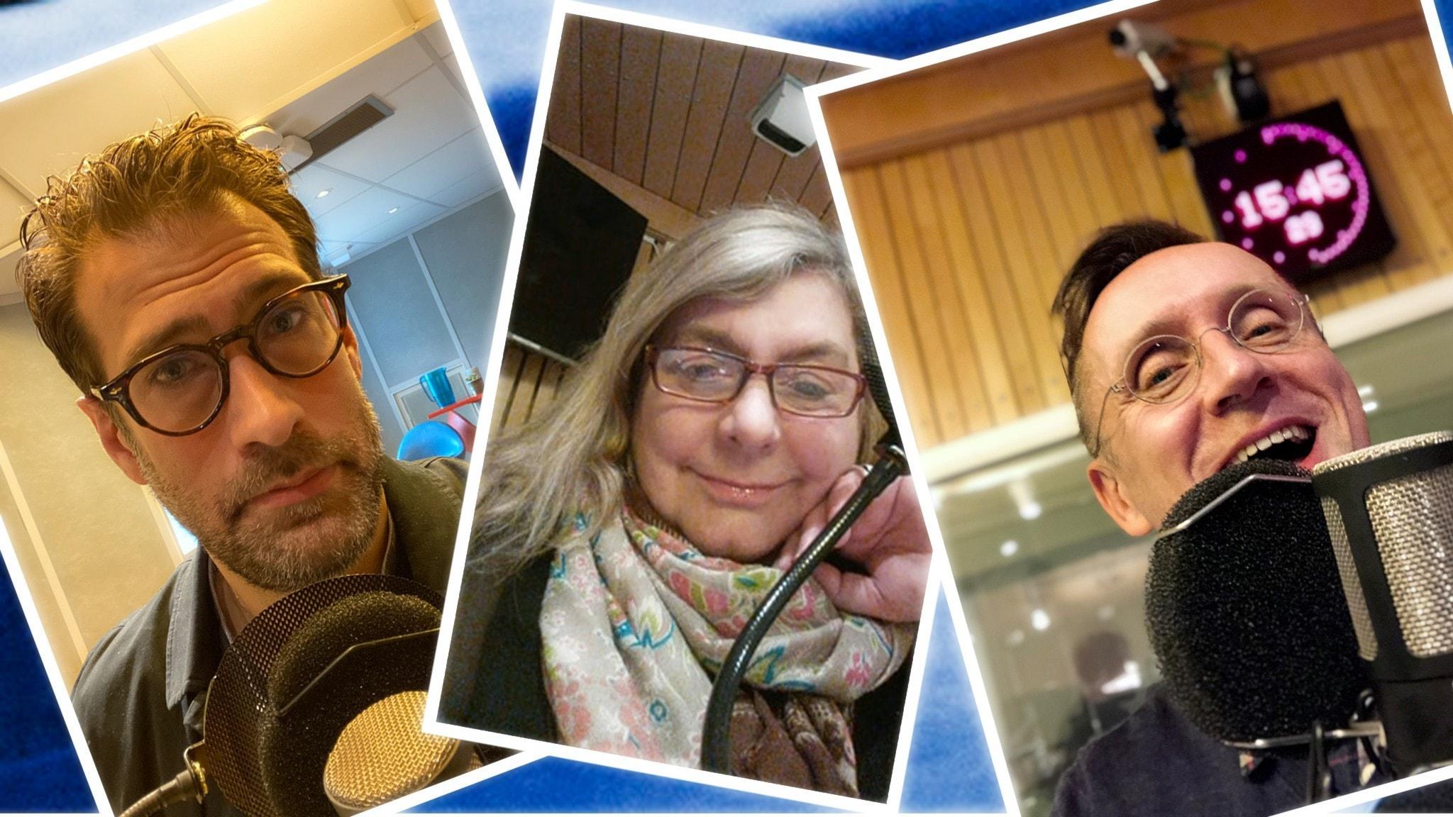 Spanarna i studion 1 maj Niklas Källner, Annika Sundberg och Göran Everdahl är veckans Spanare