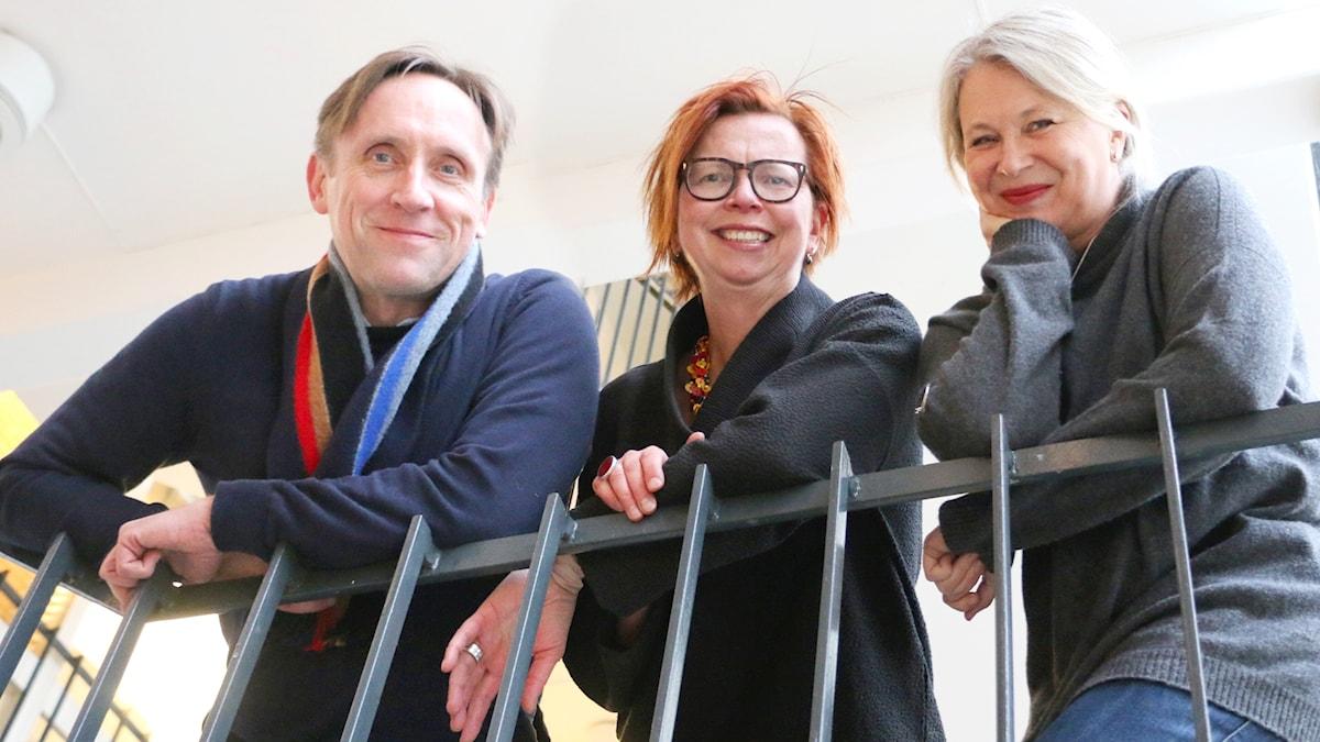 Veckans spanare från vänster:  Göran Everdahl, Maja Aase och Helena von Zweigbergk.