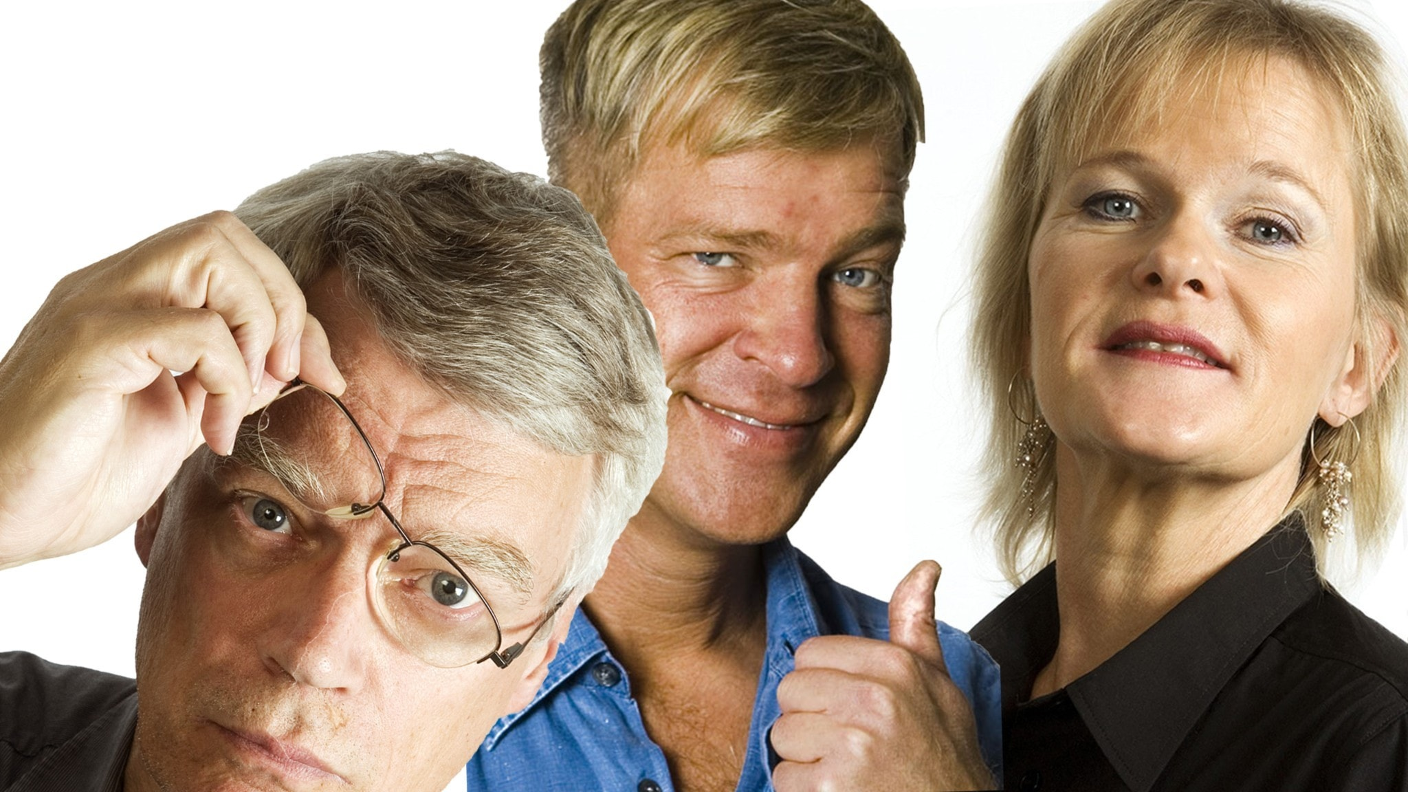 Jonas Hallberg, Calle Norlén och Sissela Kyle. Foto Mattias Ahlm och Micke Gröberg Sveriges Radio