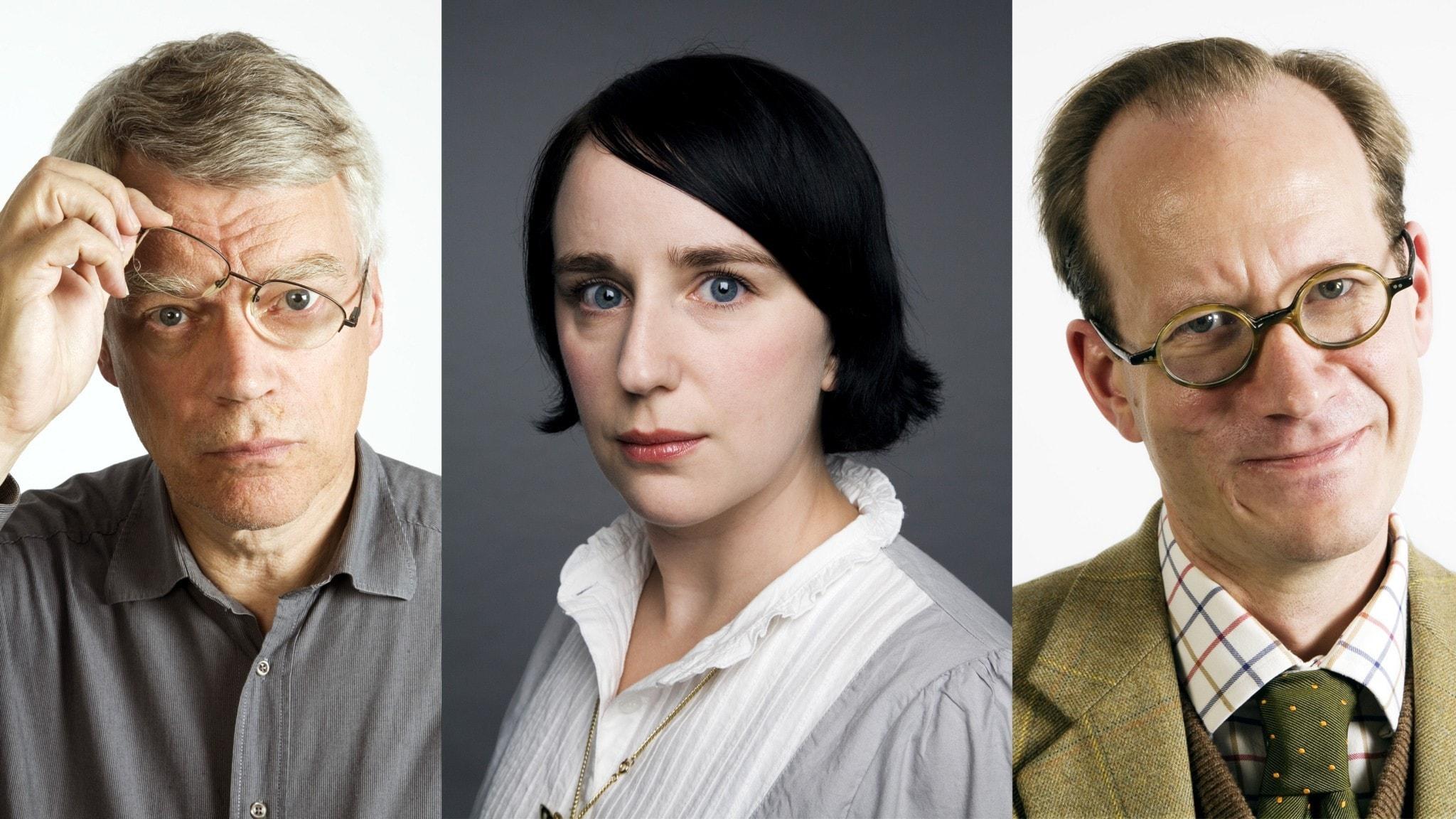 Jonas Hallberg, Hanna Fahl och Johan Hakelius. Foto Mattias Ahlm Sveriges Radio