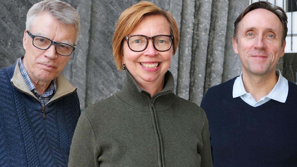 Veckans spanare från vänster: Jonas Hallberg, Maja Aase och Göran Everdahl.