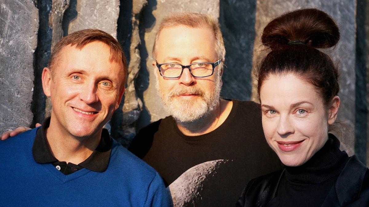 Göran Everdahl, Jonathan Lindström och Jessika Gedin.