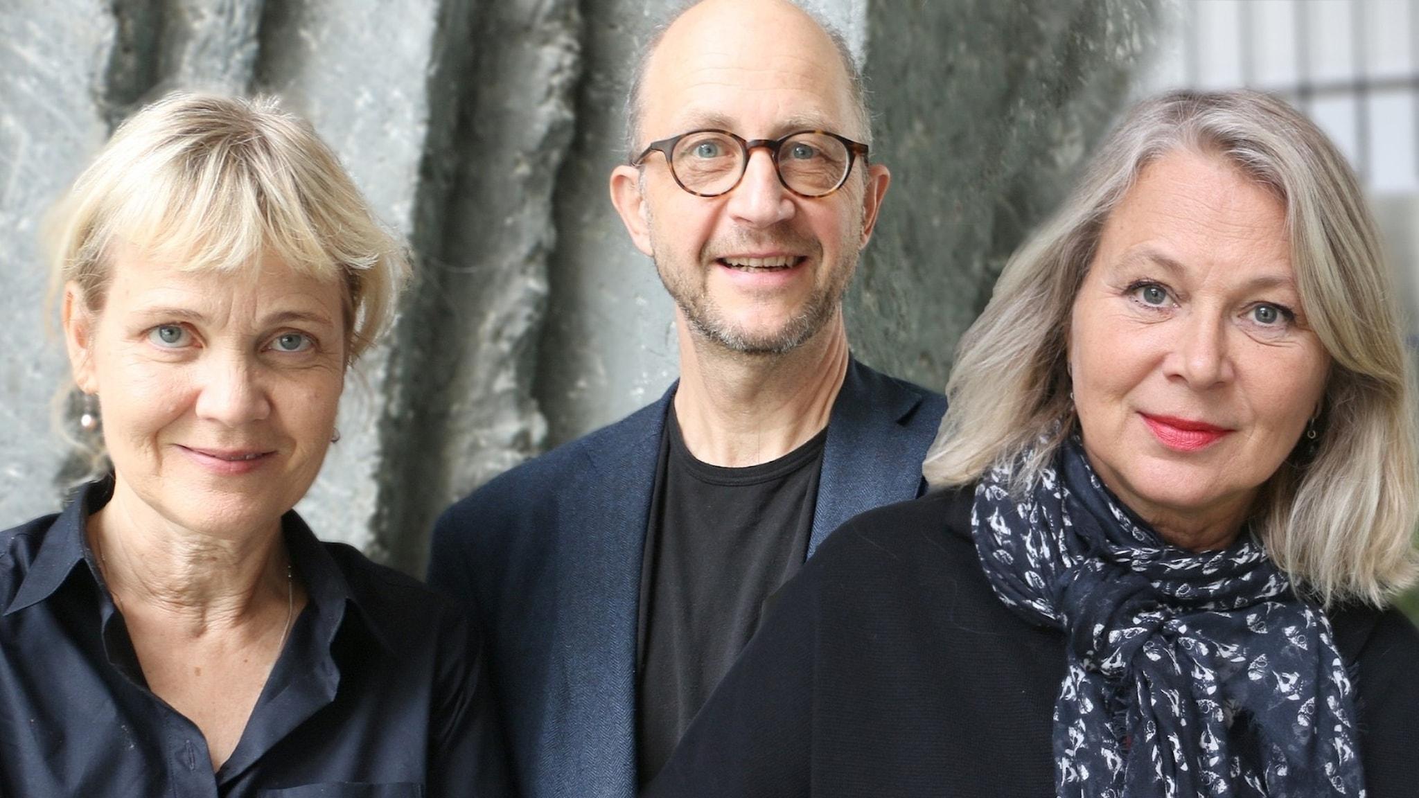Spanarna i panelen i dag från vänster:  Gabriella Ahlström, Per Naroskin och Helena von Zweigbergk.