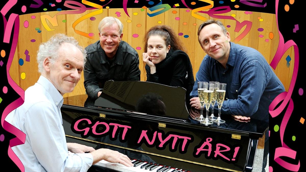 Ingvar Storm tillsammans med Calle Norlén, Jessica Gedin och Göran Everdahl