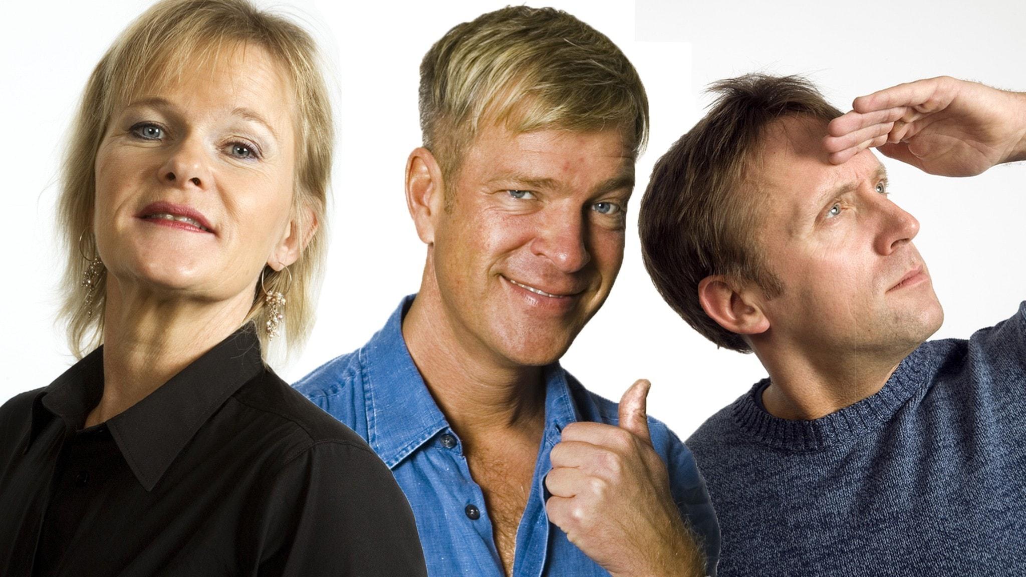 Sissela Kyle, Calle Norlén och Göran Everdahl. Foto Mattias Ahlm Sveriges Radio