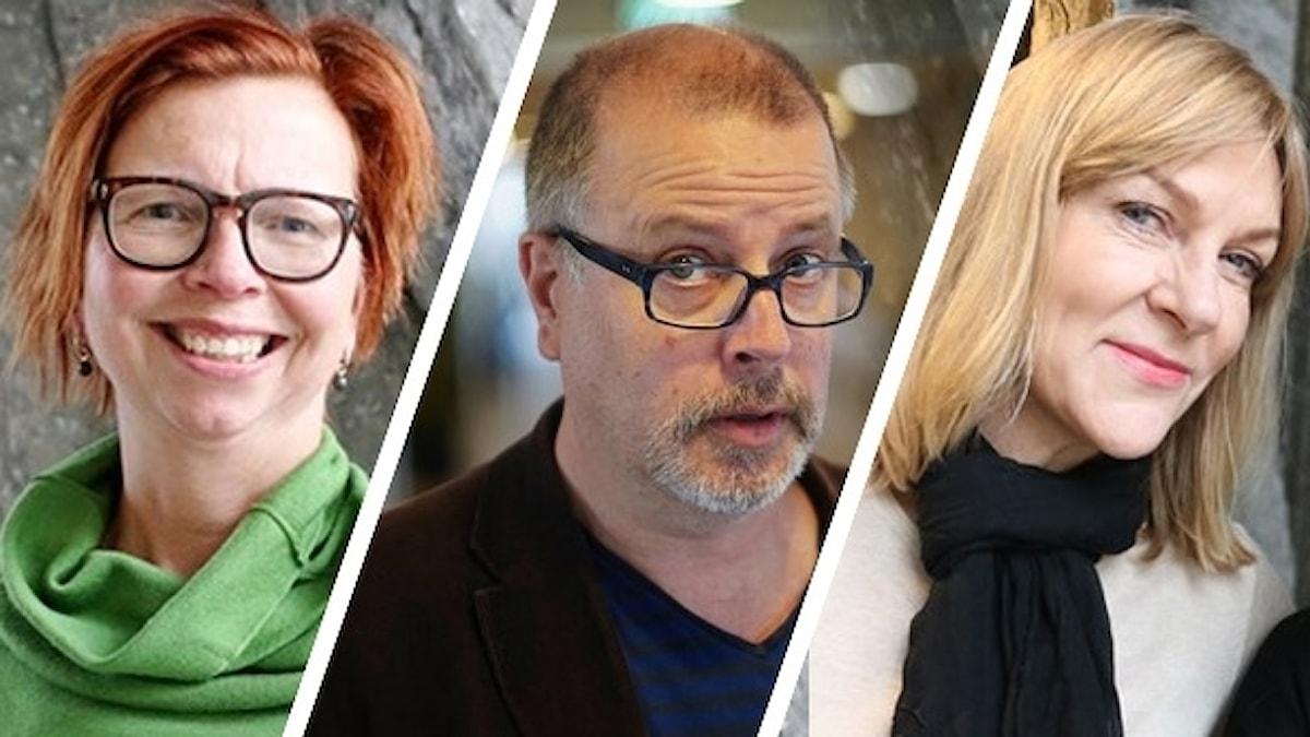Maja Aase, Jonathan Lindström och Susanne Ljung. Bildmontage.