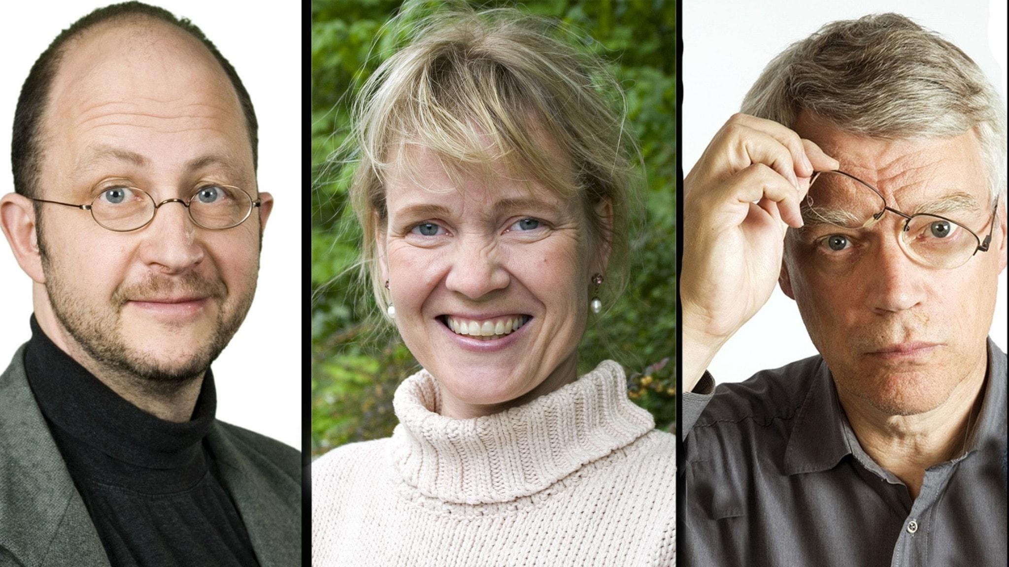 Per Naroskin, Gabriella Ahlström och Jonas Hallberg.