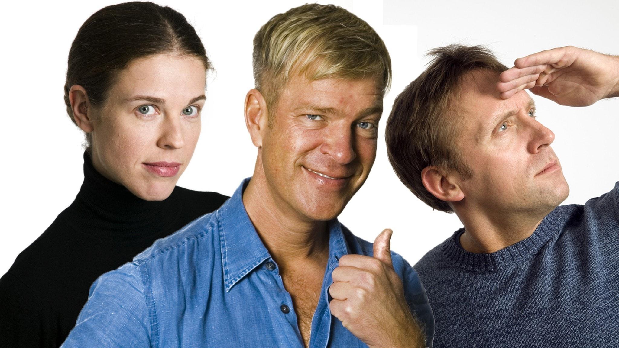 Jessika Gedin, Calle Norlén och Göran Everdahl. Foto Mattias Ahlm Sveriges Radio
