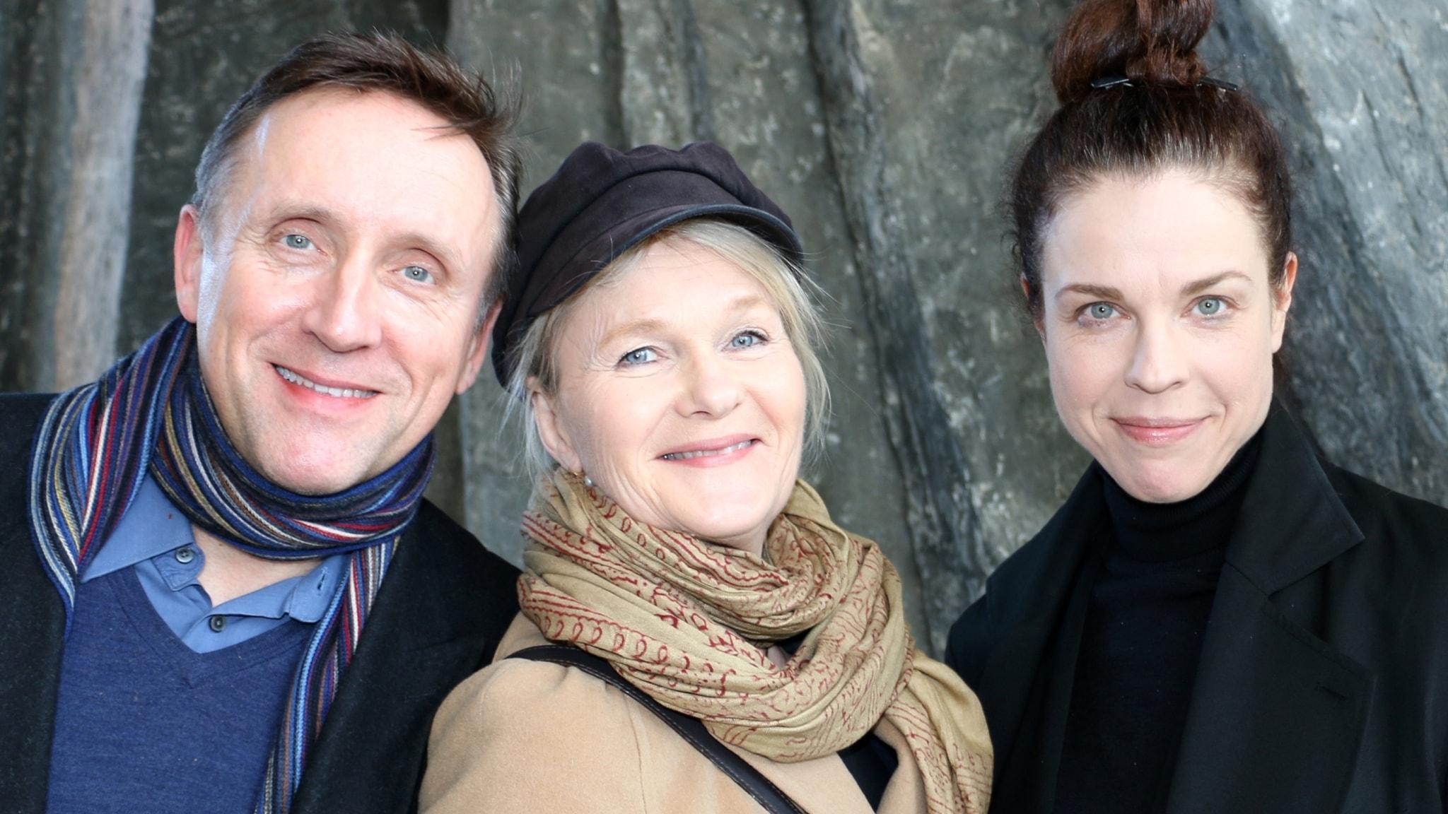 Sissela Kyle, Göran Everdahl och Jessika Gedin