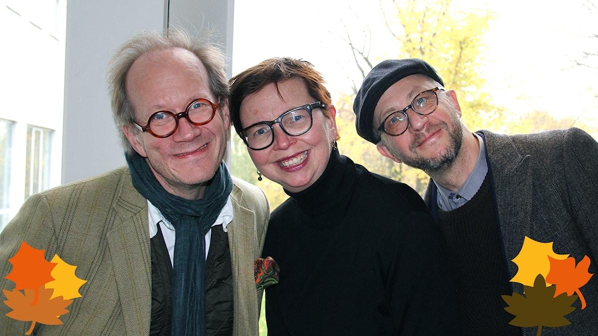 Spanarna 20 okt 2017: Johan Hakelius, Maja Aase och Per Naroskin.