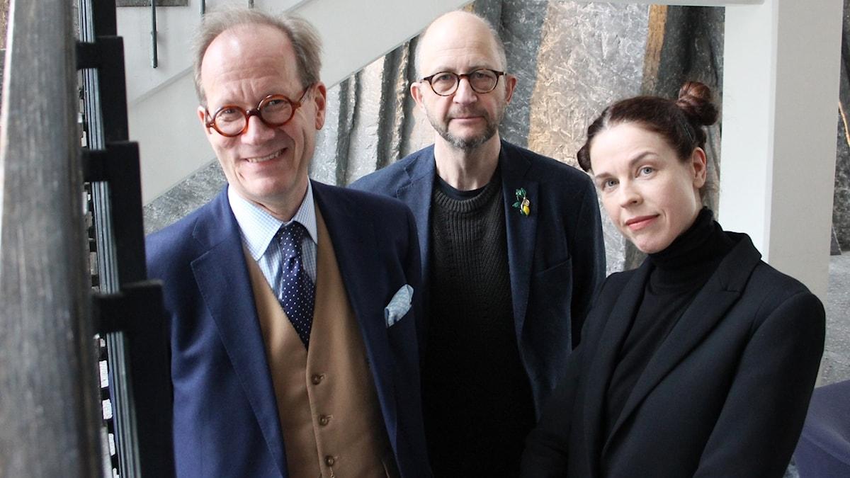 Johan Hakelius, Per Naroskin och Jessika Gedin.