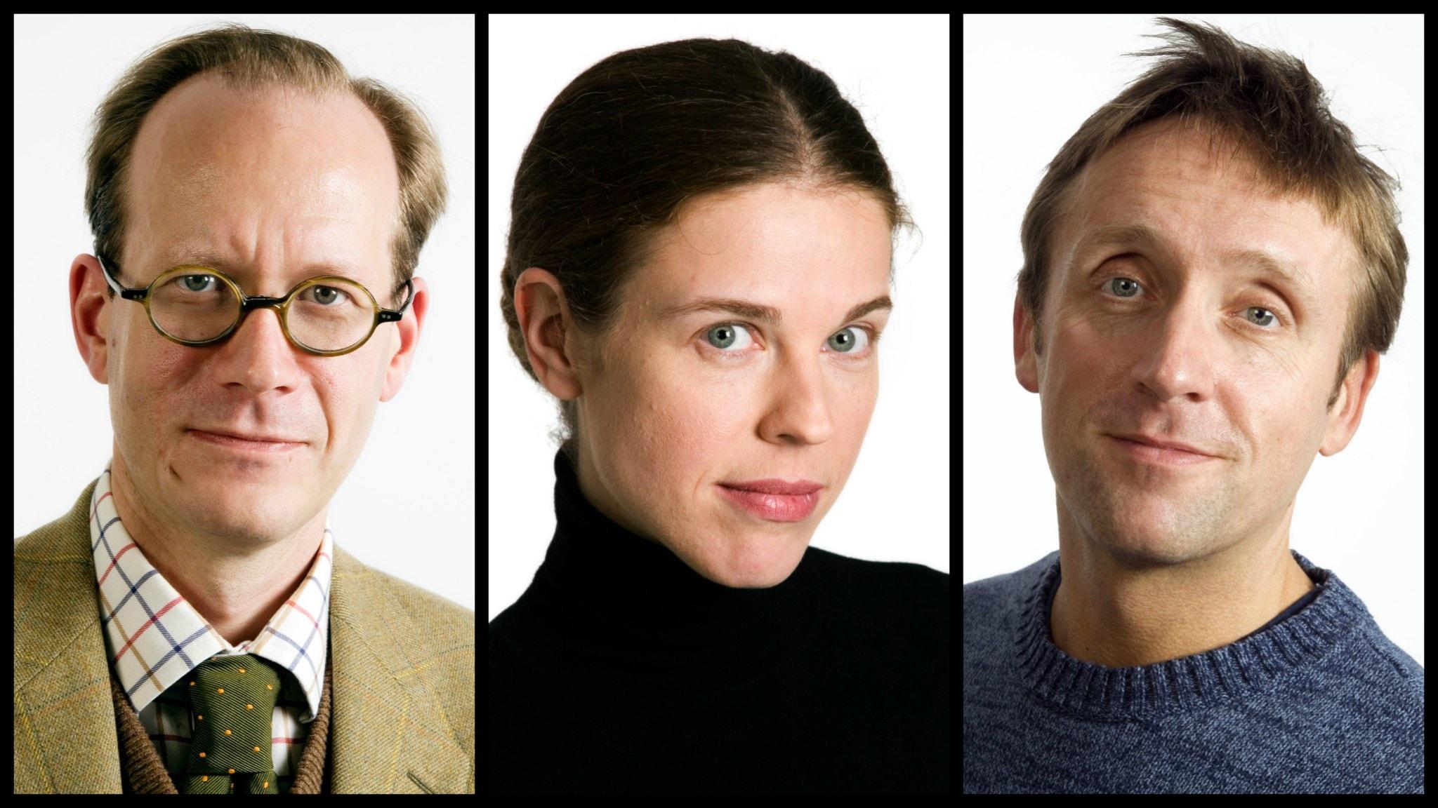I veckans spanarpanel: Johan Hakelius, Jessika Gedin och Göran Everdahl.