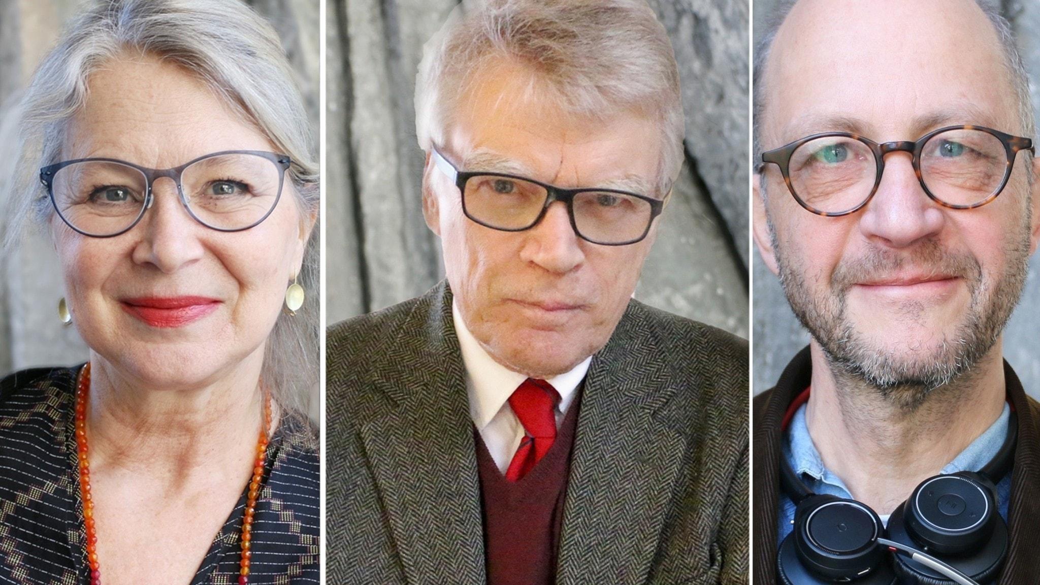 Helena von Zweigbergk, Jonas Hallberg och Per Naroskin. Foto Ronnie Ritterland Sveriges Radio