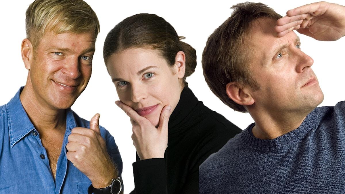 Calle Norlén, Jessika Gedin och Göran Everdahl.