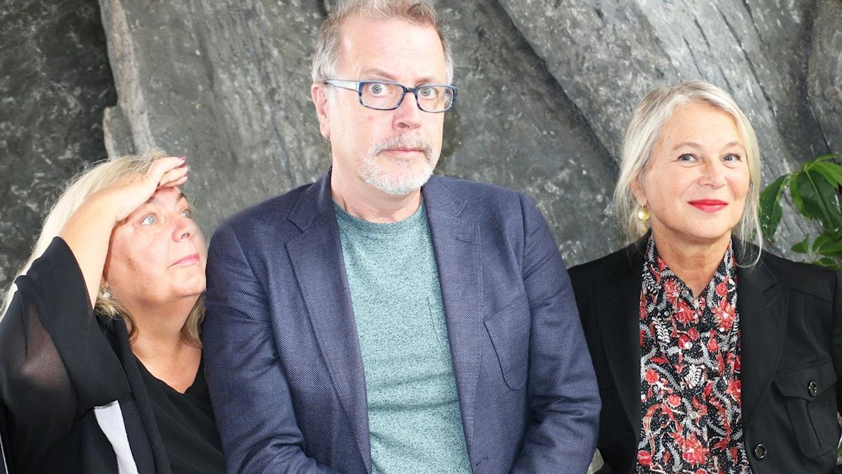 Veckans panel: Helena von Zweigbergk, Jonathan Lindström och Annika Sundberg