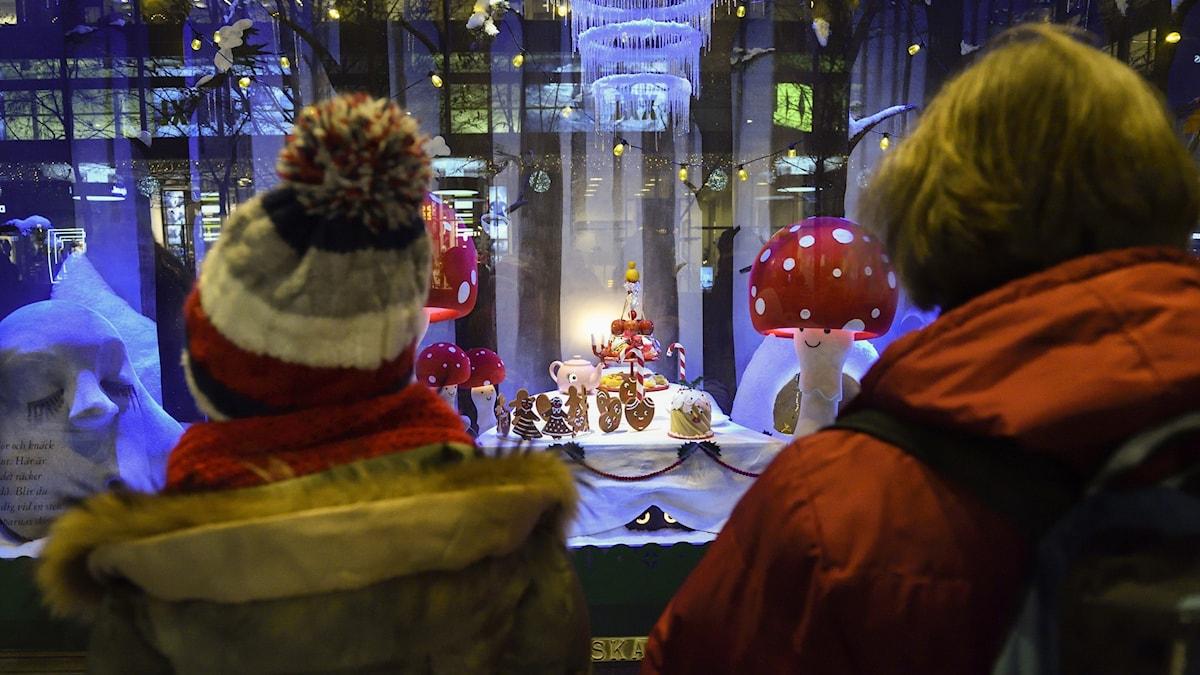 Julstämning på NK, Hamngatan i Stockholm.