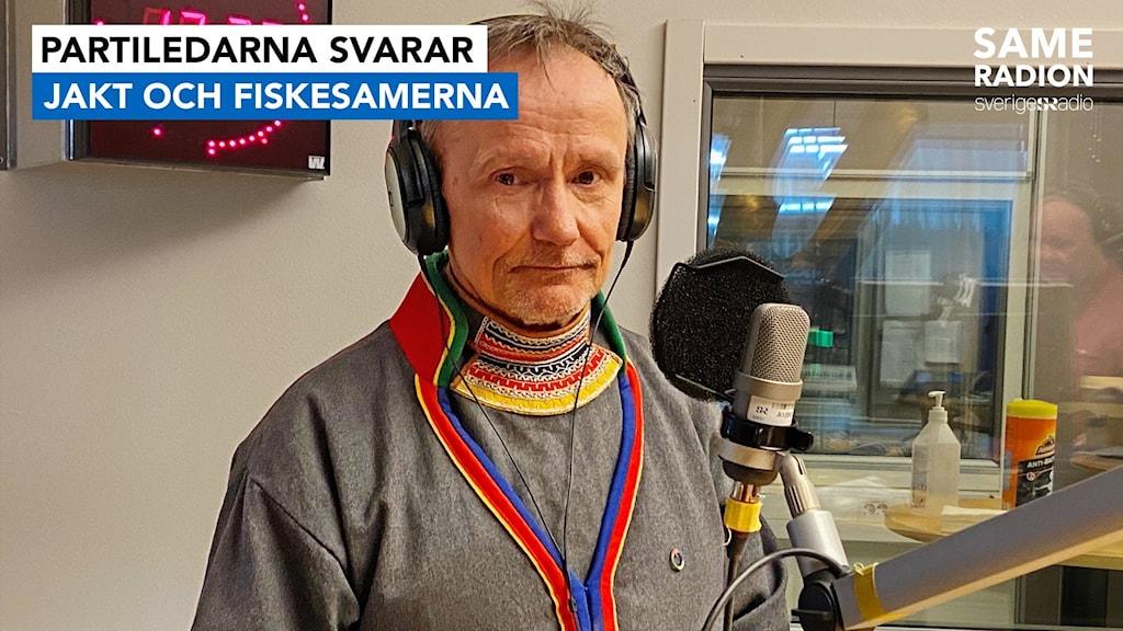 partiledarna svarar Jakt och fiskesamerna, partiledare Håkan Jonsson. utfrågning inför sametingsvalet 2021.